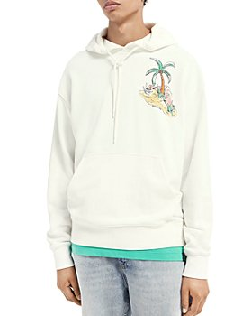 Scotch & Soda - Organic Cotton Graphic Print Relaxed Fit Hoodie