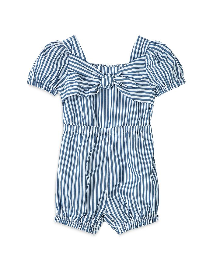 Habitual Climbing clotheses GIRLS' STRIPED CAP SLEEVE ROMPER - BABY