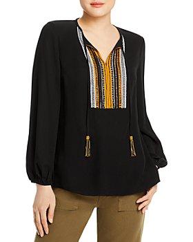 Kobi Halperin - Cora Silk Embellished Blouse