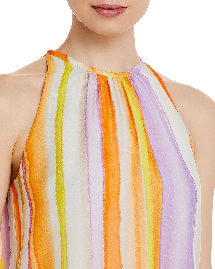 RAMY BROOK Silks PARIS STRIPED SILK SLEEVELESS MINI DRESS