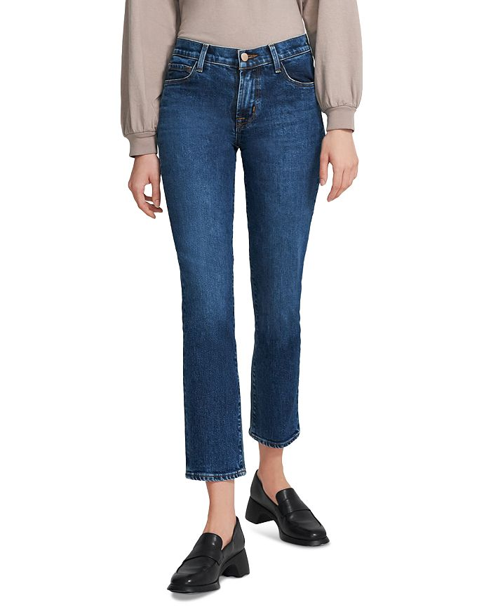 J Brand - Adele Ankle Straight-Leg Jeans