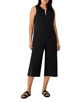 Eileen Fisher Petites - Sleeveless Cropped Wide Leg Jumpsuit