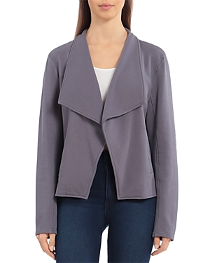 French Terry Draped Collar Jacket