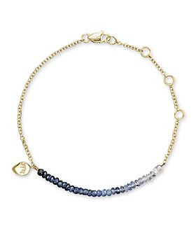 Meira T - Blue Sapphire and 14K Yellow Gold Bracelet
