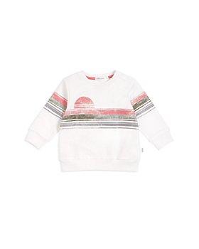 Miles Baby - Girls' Striped Sunrise Sweatshirt - Baby