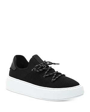 J/Slides Women's Damien Perforated Knit Platform Sneakers