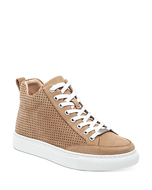 J/Slides Women's Ludlow Perforated Nubuck Leather High Top Sneakers