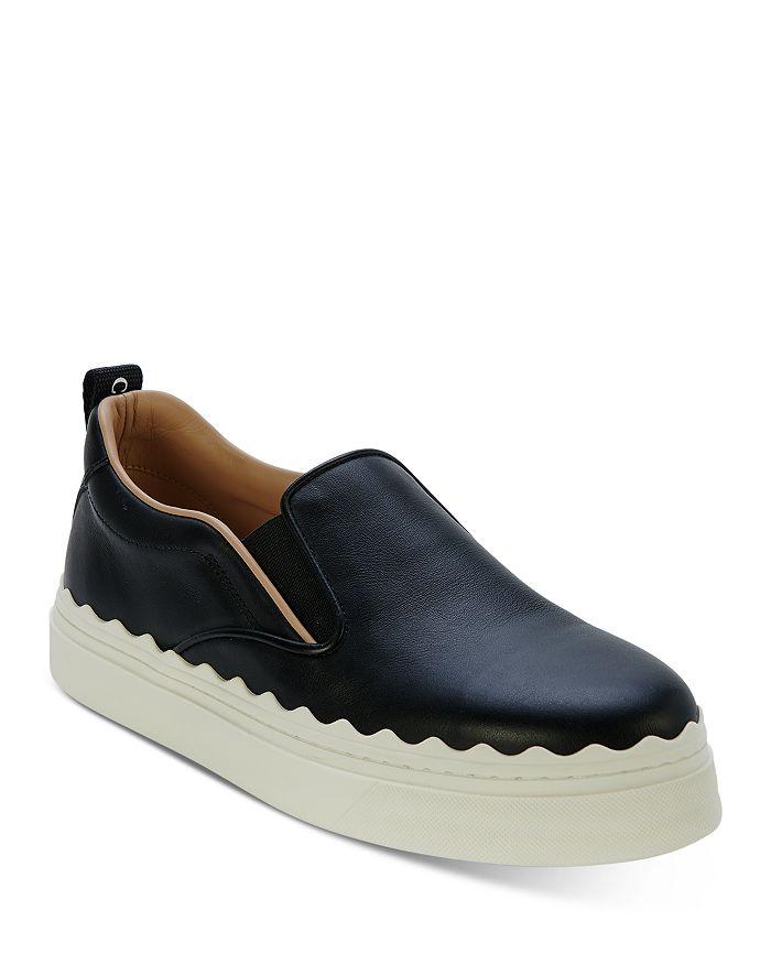 Chloé - Women's Lauren Leather Slip On Platform Sneakers