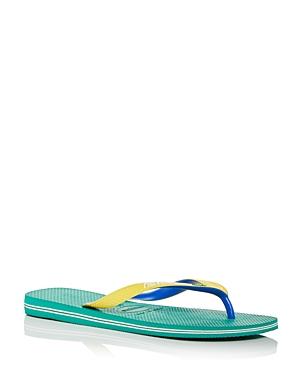 Men's Brazil Mix Color Block Flip Flops