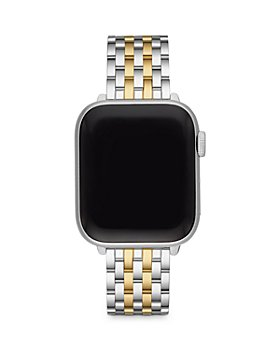 MICHELE - Apple Watch® Two Tone 18K Gold Plated Stainless Steel Interchangeable Bracelet, 38-42mm