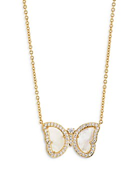 """Nadri - Vanessa Mother-of-Pearl Butterfly Pendant Necklace, 16"""""""