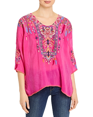 Johnny Was RANGOON EMBROIDERED BLOUSE