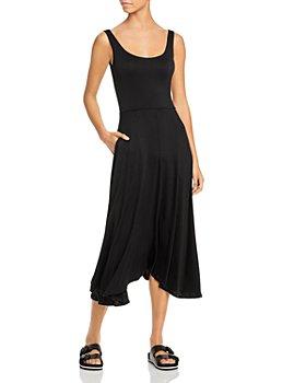 Vince - Sleeveless Ruffled Asymmetrical Skirt Dress
