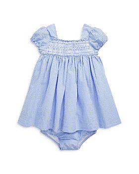Ralph Lauren - Girls' Smocked Cotton Dress & Bloomers Set - Baby