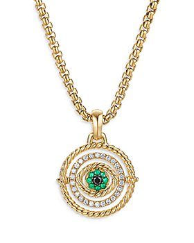 David Yurman - 18K Yellow Gold Evil Eye Mobile Amulet with Emeralds & Diamonds