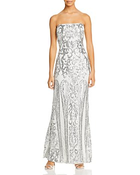 AQUA - Sequined Strapless Gown - 100% Exclusive