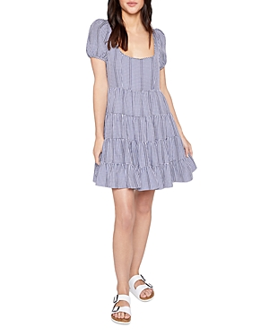 Likely CHLOE GINGHAM TIERED MINI DRESS
