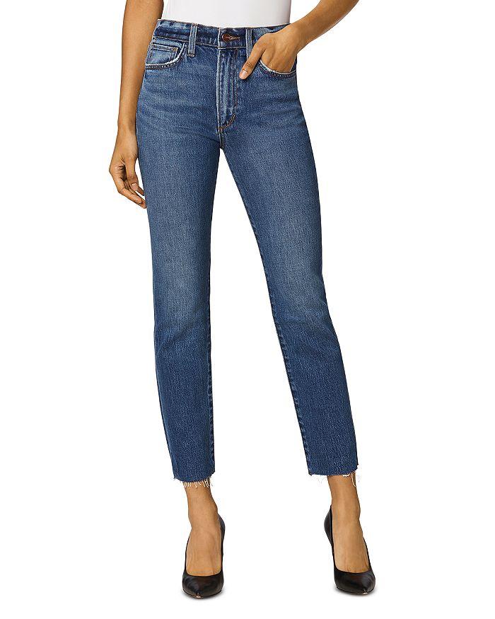 Joe's Jeans THE LUNA RAW HEM ANKLE JEANS IN ADRIATIC