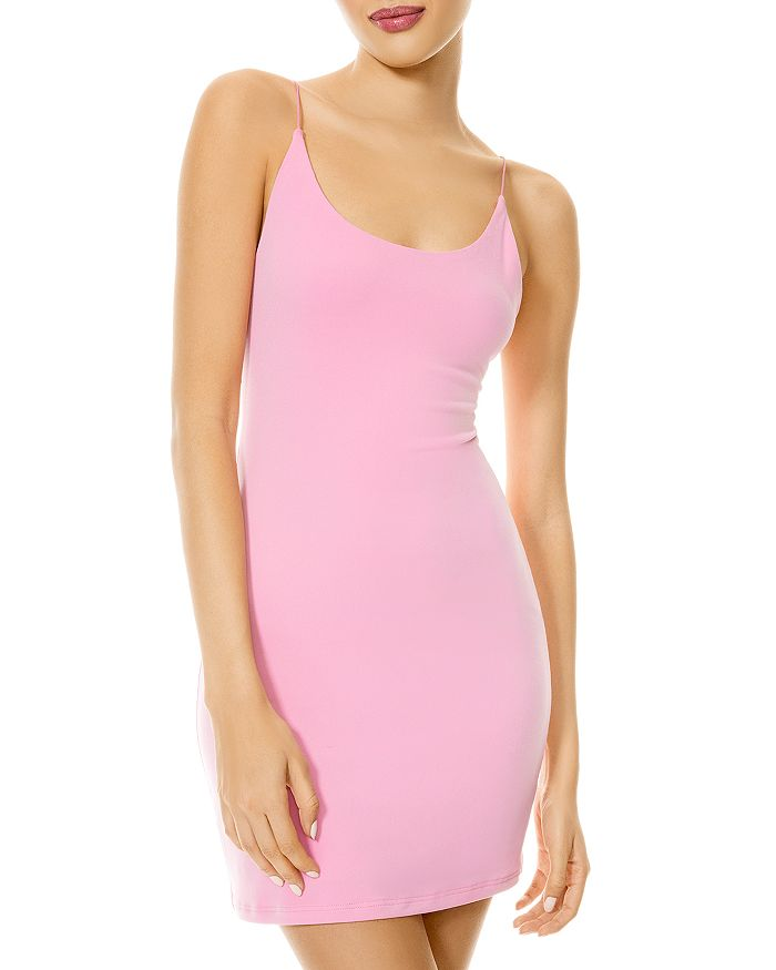 Alice And Olivia Delora Fitted Mini Dress In Cal Pink