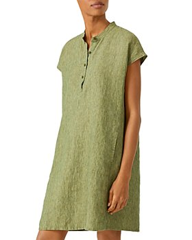Eileen Fisher - Band Collar Linen Dress
