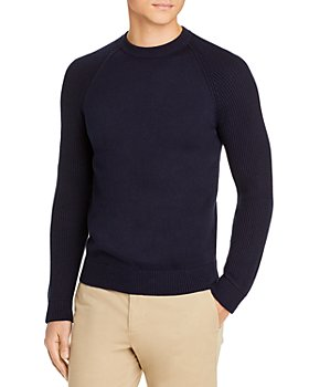 Vince - Mixed Knit Ribbed Crewneck Sweater