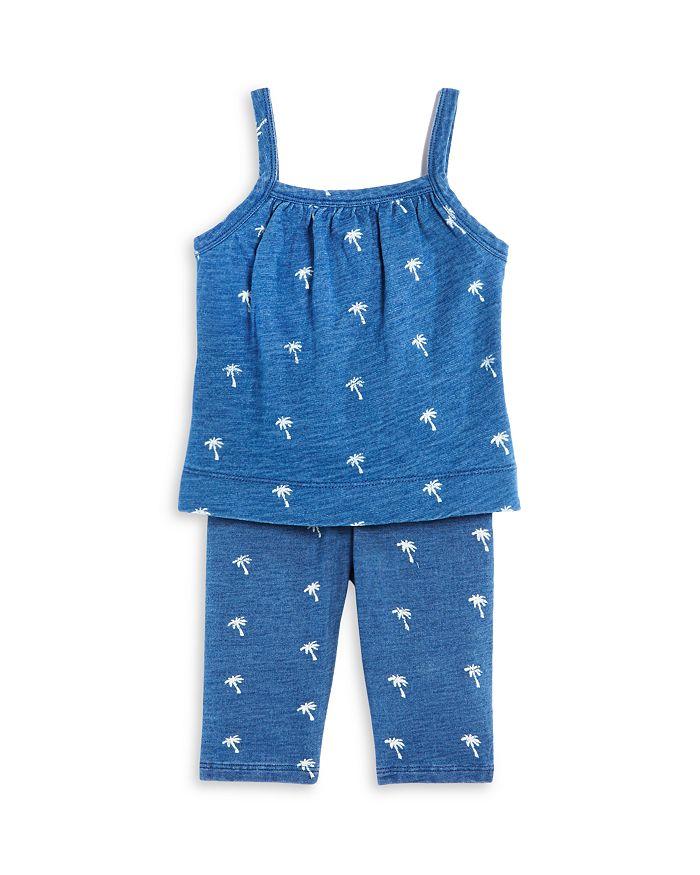Splendid - Girls' Palm Tree Ditsy Print Tank Top & Leggings Set - Baby