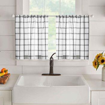 "Elrene Home Fashions - Windowpane Plaid Valance, 60"" x 15"""