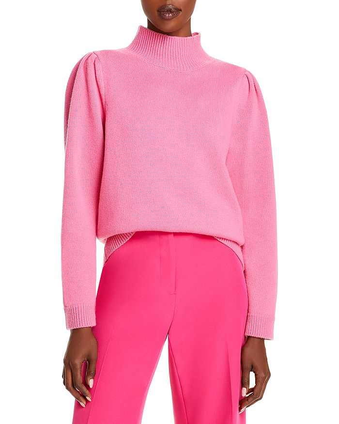 Milly Wools RELAXED MOCK NECK SWEATER