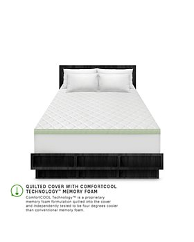 Soft-Tex - SensorPEDIC 3-Inch Ultimate Cooling Luxury Quilted Memory Foam Bed Topper