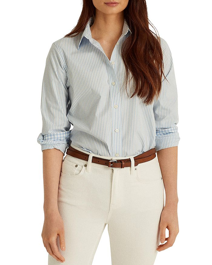 Ralph Lauren Shirts LAUREN RALPH LAUREN STRIPED NO IRON SHIRT