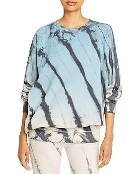 Vintage Havana - Tie Dyed Burnout Crewneck Sweatshirt
