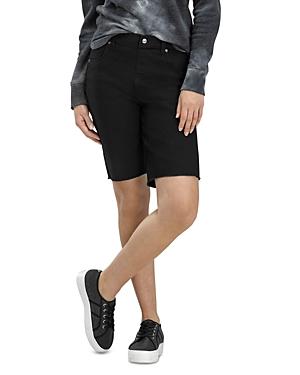 Ultra Soft High Rise Denim Bermuda Shorts