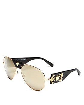 Versace - Men's Brow Bar Aviator Sunglasses, 62mm