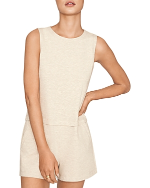 French Terry Sleeveless Romper