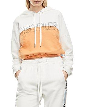 The Kooples - Two Tone Hooded Logo Sweatshirt
