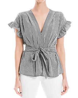 Yarndye Tie Front Ruffle Sleeve Blouse (62% off)