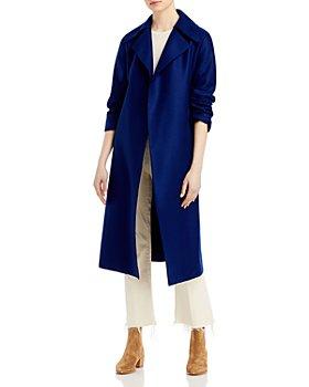 Harris Wharf London - Belted Oversized Wool Crepe Coat
