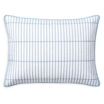 "Ralph Lauren - Sandra Grid Pattern Quilted Decorative Pillow, 15"" x 20"""