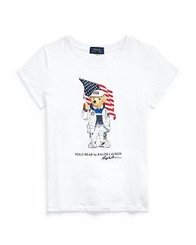 Ralph Lauren - Girls' Flag Bear Tee - Little Kid, Big Kid