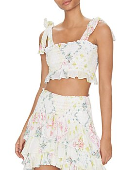 LoveShackFancy - Norleen Floral Print Crop Top