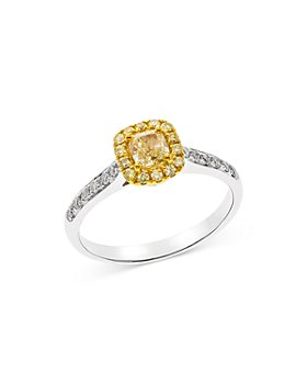 Bloomingdale's - Yellow & White Diamond Ring in 14K White & Yellow Gold - 100% Exclusive