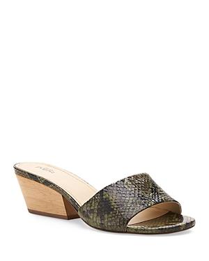 Women's Carlie Suede Mid Heel Slide Sandals