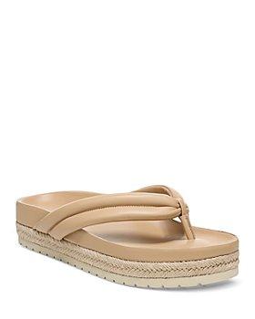 Vince - Women's Forest Platform Thong Sandals