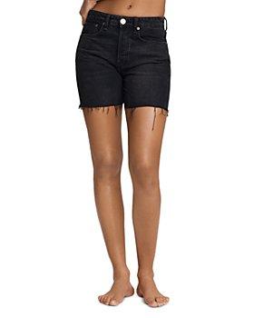 rag & bone - Maya High Rise Midi Denim Cutoff Shorts in Highland