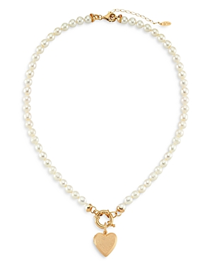 Freja Cultured Freshwater Pearl Heart Pendant Necklace