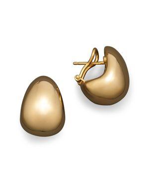 Roberto Coin 18K Yellow Gold Bold J Hoop Earrings
