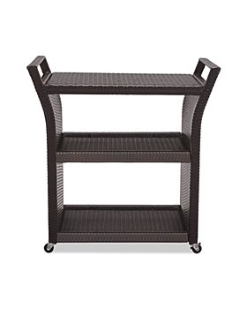 Sparrow & Wren - Avalon Outdoor Wicker Bar Cart