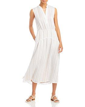 Vince - Drapey Striped Midi Dress