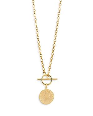 Vintage Look Coin Pendant Necklace