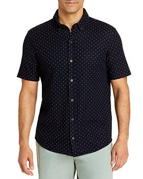 Vince - Jacquard Short Sleeve Button Down Shirt